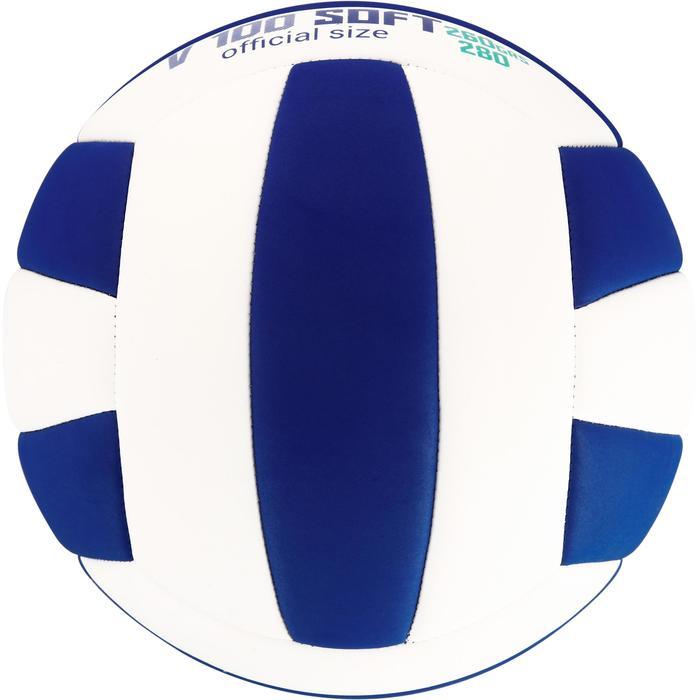 Ballon de volley-ball Wizzy 260-280g blanc et bleu à partir de 15 ans - 1312386