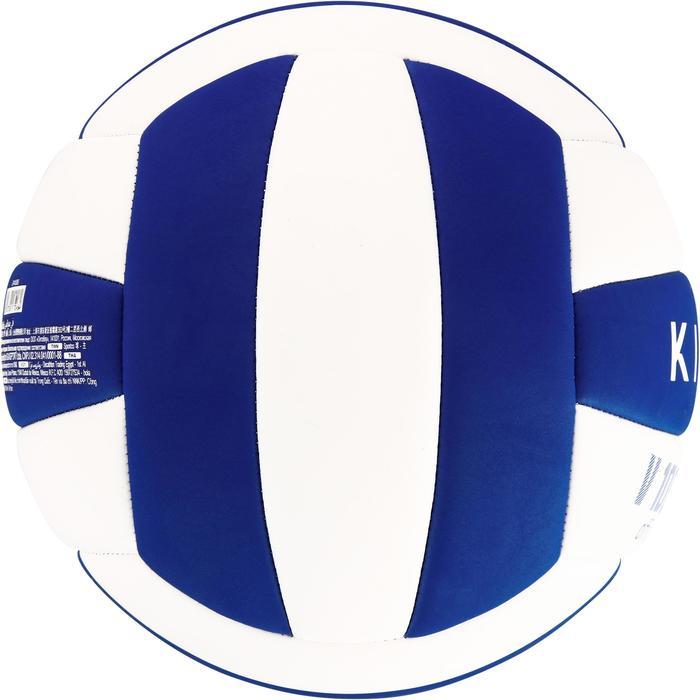 Ballon de volley-ball Wizzy 260-280g blanc et bleu à partir de 15 ans - 1312387