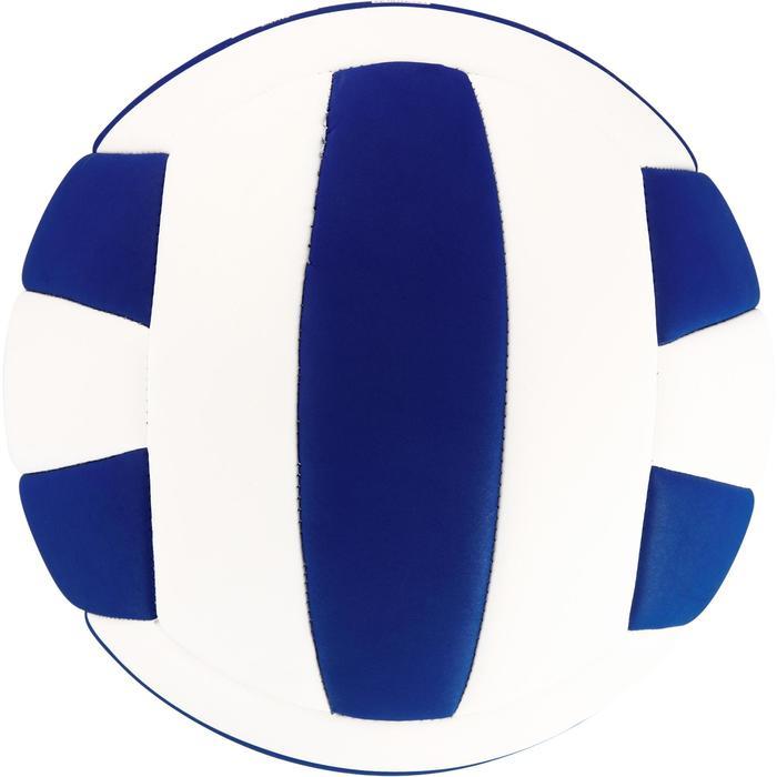 Volleyball V100 Soft 260–280 g ab 15 Jahren weiß/blau