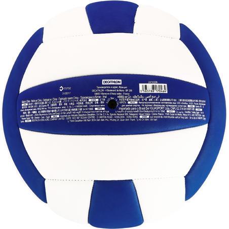 Ballon de volleyball V100 SOUPLE 0,57-0,62 lb blanc et bleu à partir de 15 ans
