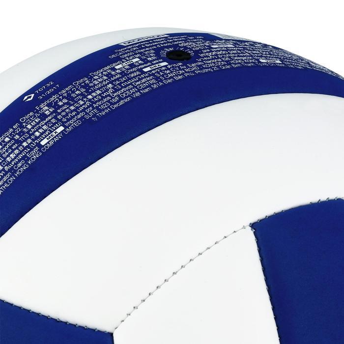 Ballon de volley-ball Wizzy 260-280g blanc et bleu à partir de 15 ans - 1312391
