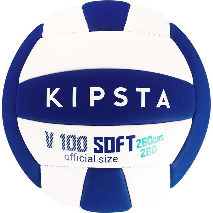 Ballon de volley-ball Wizzy 260-280g blanc et bleu à partir de 15 ans - 1312392