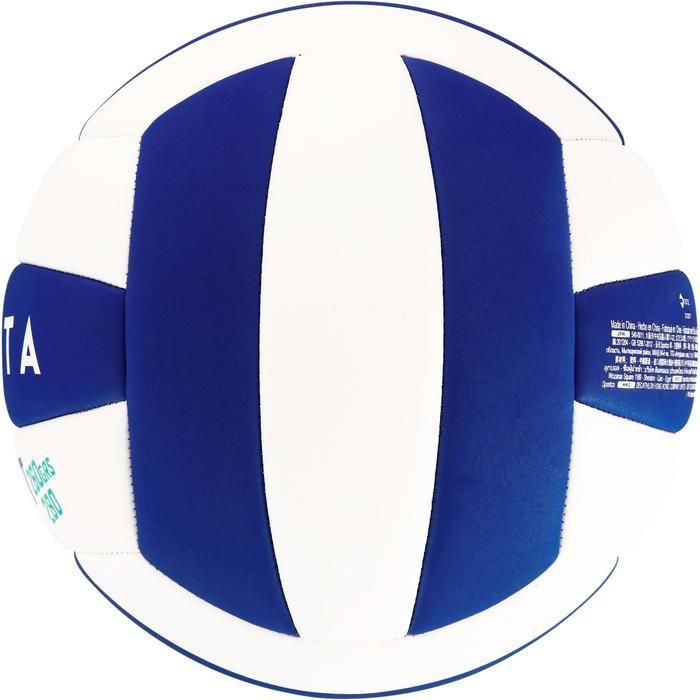 Ballon de volley-ball Wizzy 260-280g blanc et bleu à partir de 15 ans - 1312393