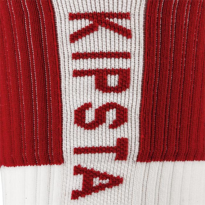 Volleyballsocken V500 Herren weiß/rot
