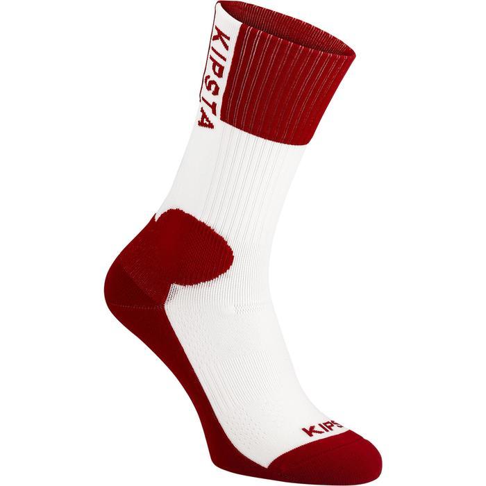 Calcetines de voleibol V500 blancos y rojos