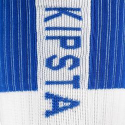 Calcetines de voleibol V500 largos blanco y azul