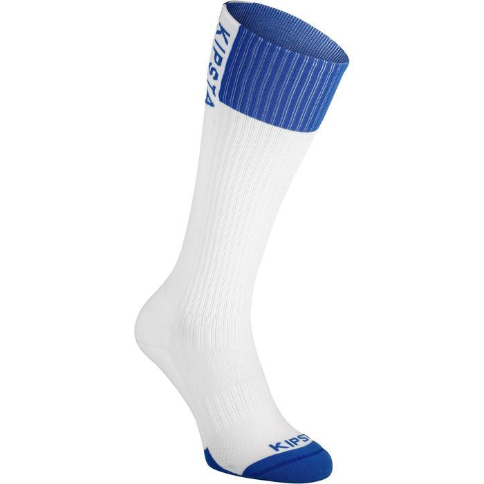 Calcetines de Voleibol Allsix largos V500 blanco y azul