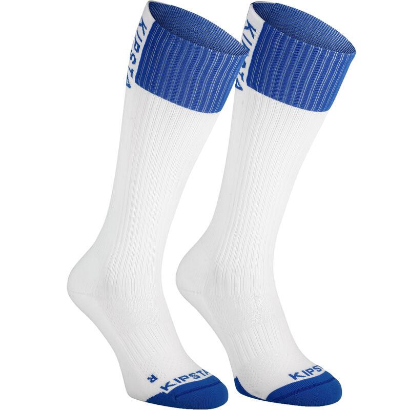 Calcetines de Voleibol Allsix largos V500 adulto blanco y azul