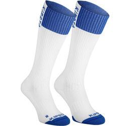 Chaussettes de volley-ball V500 blanches et bleues