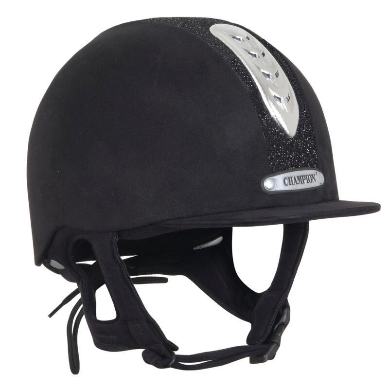 JUNIOR X-AIR DAZZLE PLUS Riding Hat Black