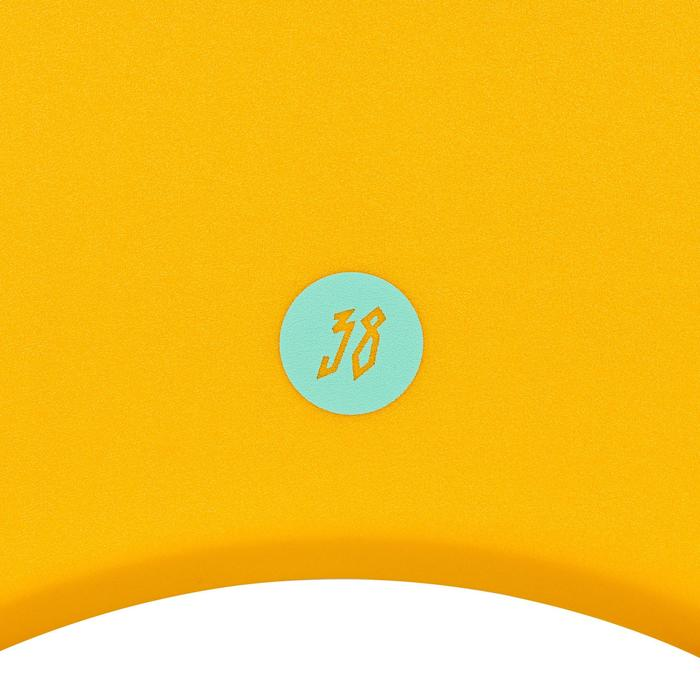 """Bodyboard 100 für Körpergröße 1,45–1,65m 38"""" mit Gleitsohle + Leash orange"""