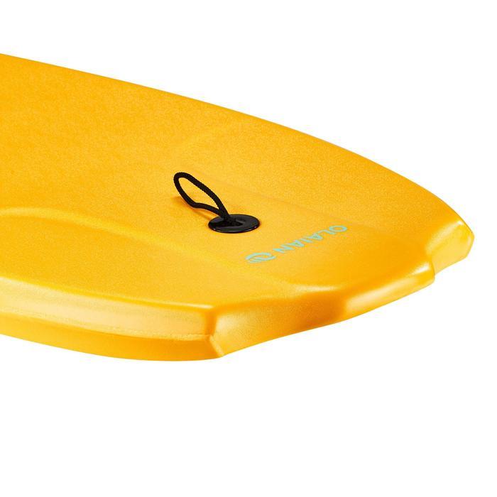 """Bodyboard 100 naranja 1,45 m - 1,65 m 38"""" con suela de deslizamiento y leash"""
