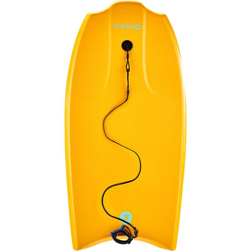 "Bodyboard 100 38"" naranjo se entrega con leash"