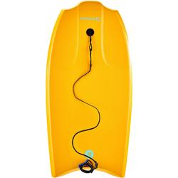 "Bodyboard 100 orange 1m45-1m65 38"" avec semelle de glisse et leash"