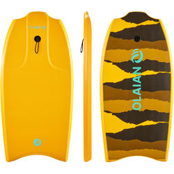 "100 Bodyboard 1.45m-1.65m 38"" with Glide Slick and Leash - Orange"