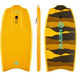 "Bodyboard 100 oranje 1m45-1m65 38"" met slick en leash"