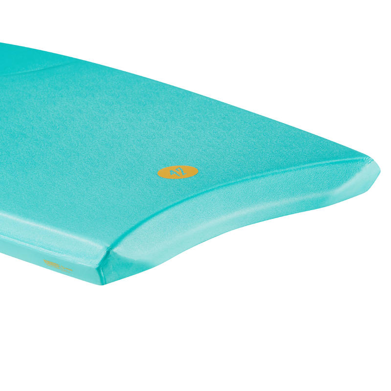 100 Bodyboard 1.65m-1.85m 42_QUOTE_ with Glide Slick and Leash - Blue Green