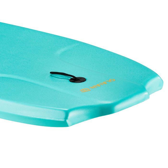 """Bodyboard 100 blauw groen 1,65 m-1,85 m 42"""" met slick en leash"""