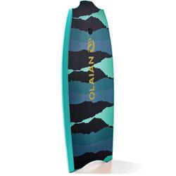 Bodyboard 100 42 blauw groen geleverd met leash