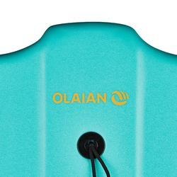 """BODYBOARD 100 bleu vert 1,65m-1,85m 42"""" avec semelle de glisse et leash"""