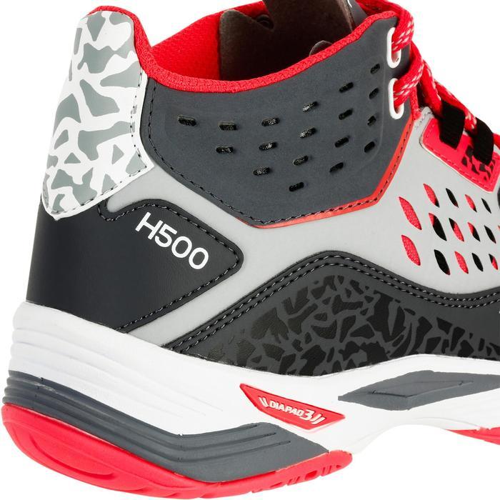Chaussures de handball Mid femme grises et roses - 1312535