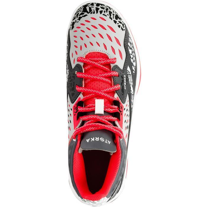 Chaussures de handball Mid femme grises et roses - 1312536