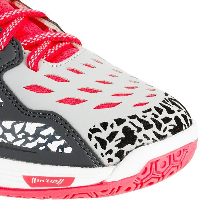 Chaussures de handball Mid femme grises et roses - 1312537