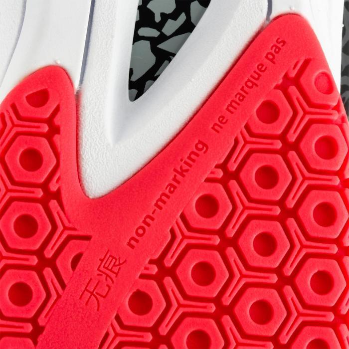 Chaussures de handball Mid femme grises et roses - 1312541