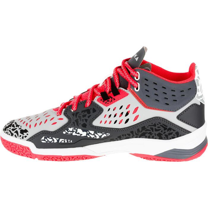 Chaussures de handball Mid femme grises et roses - 1312542