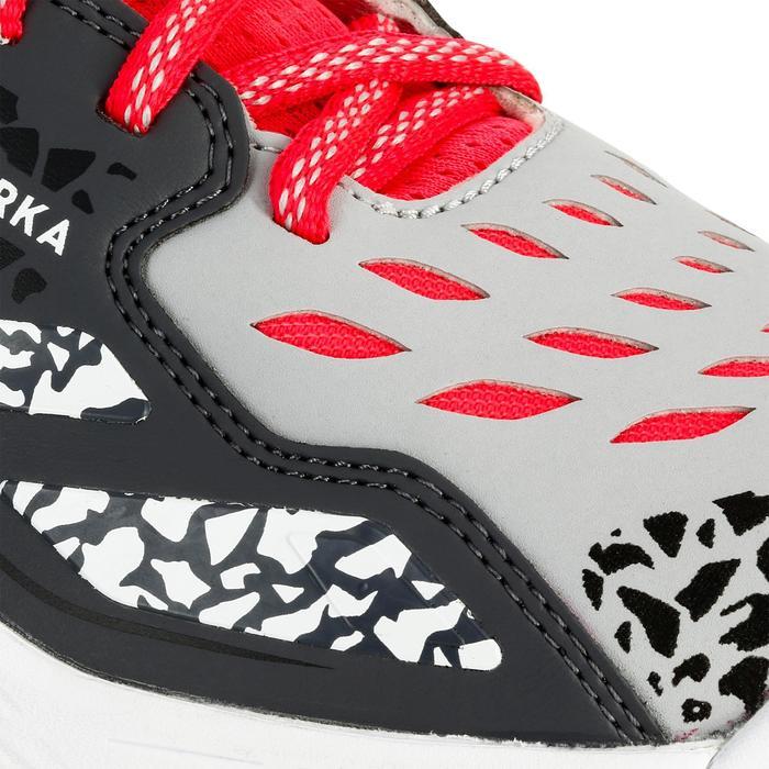 Chaussures de handball Mid femme grises et roses - 1312543