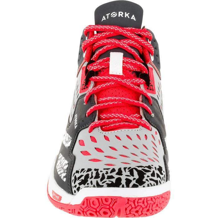 Chaussures de handball Mid femme grises et roses - 1312546