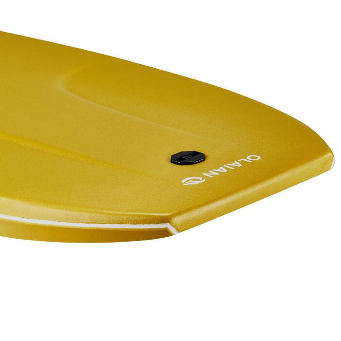 """Bodyboard 500 mosterdgeel personen 1m55-1m70 40"""" + leash"""