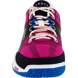 Chaussures de volley-ball V500 femme bleues et roses