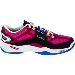 Chaussures de volleyball V500 femme bleu et rose