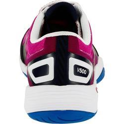 Volleyballschuhe V500 Damen blau/rosa