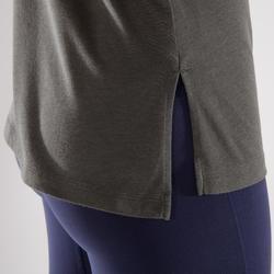 T-Shirt 500 Crosstraining Damen khaki