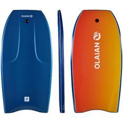 """Bodyboard 500 azul Altura más de 1,85m - 1,85m 45"""" + leash"""