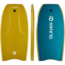 "Bodyboard 500 User Height 1.55-1.70m 40"" + Leash - Mustard"