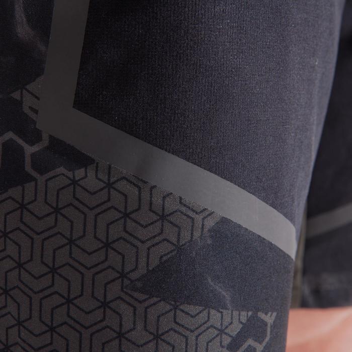 Sporthose kurz 900 Crosstraining Herren schwarz/kaki