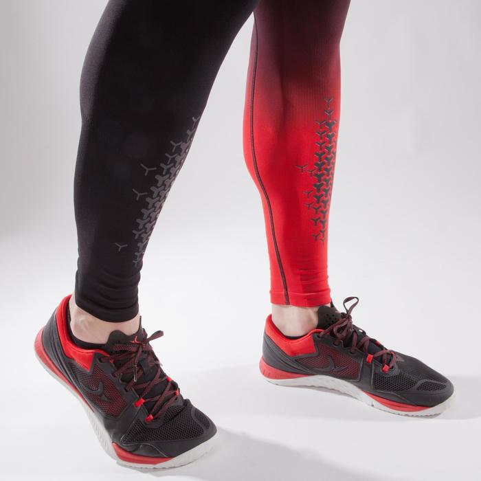 Tights 900 Crosstraining Herren schwarz/rot