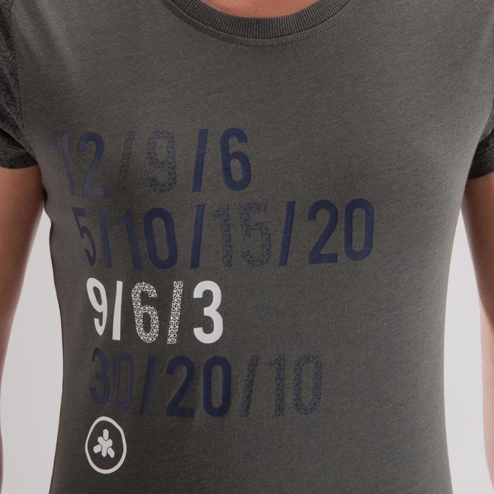 T-shirt crosstraining 500 dames kaki