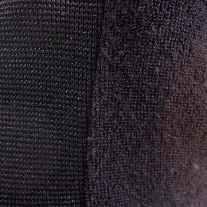 Guante musculación 500 negro caqui puño ajustado por tira autoadherente