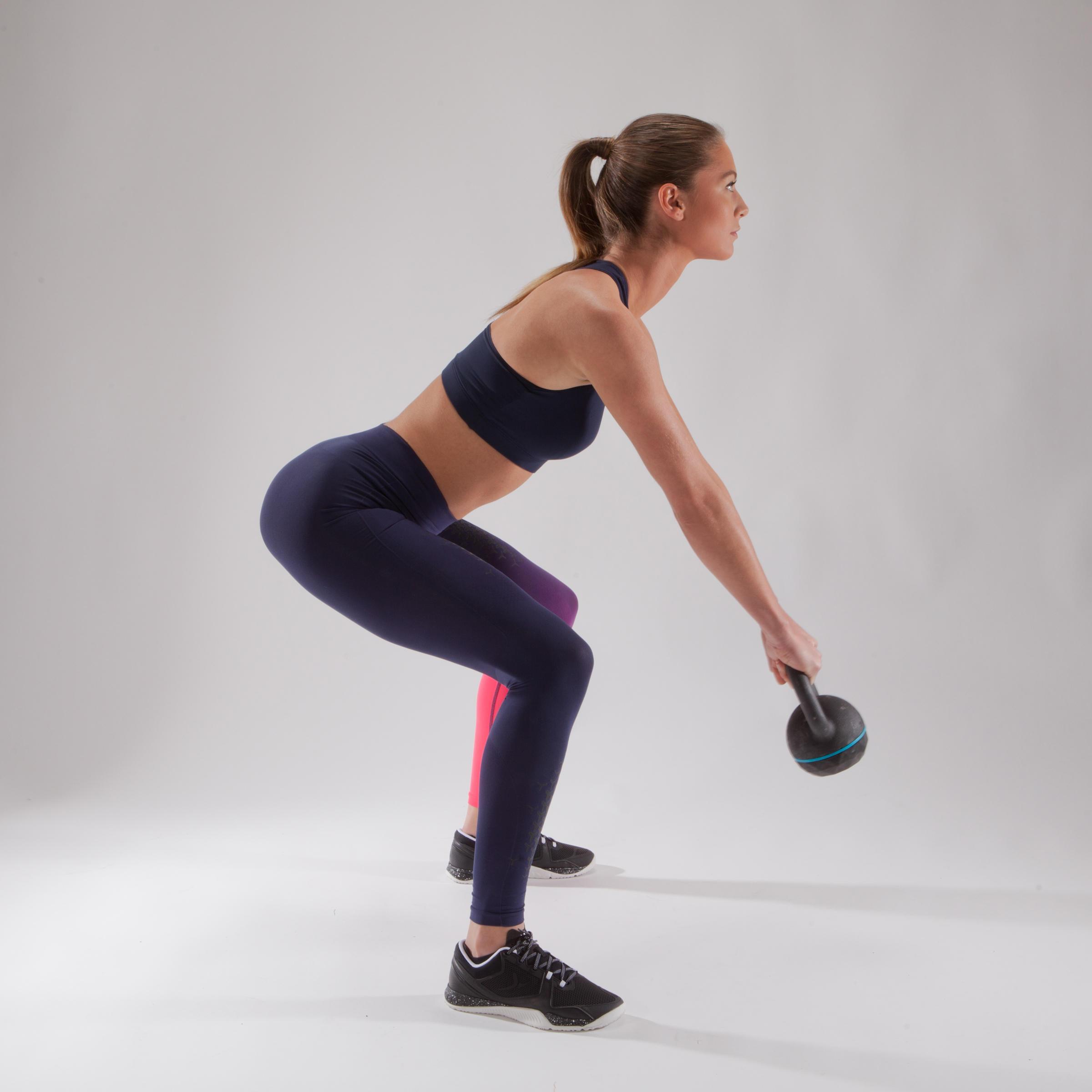 900 Women's Cross Training Leggings - Blue/Pink