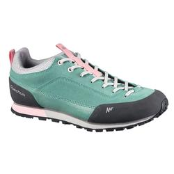 女性自然健行運動靴 NH500 – 綠色 粉紅