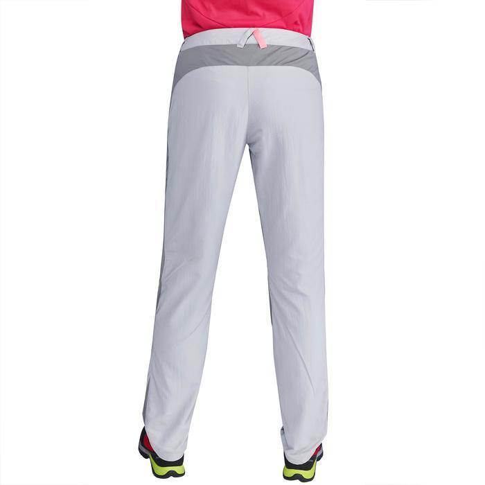 Pantalón de senderismo en montaña MH100 Mujer Gris claro