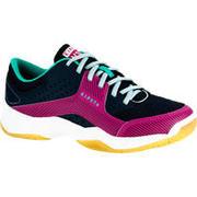 Zapatillas de voleibol V100 con cordones niña azules y rosa