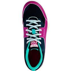 Volleyballschuhe V100 Schnürsenkel Kinder blau/rosa