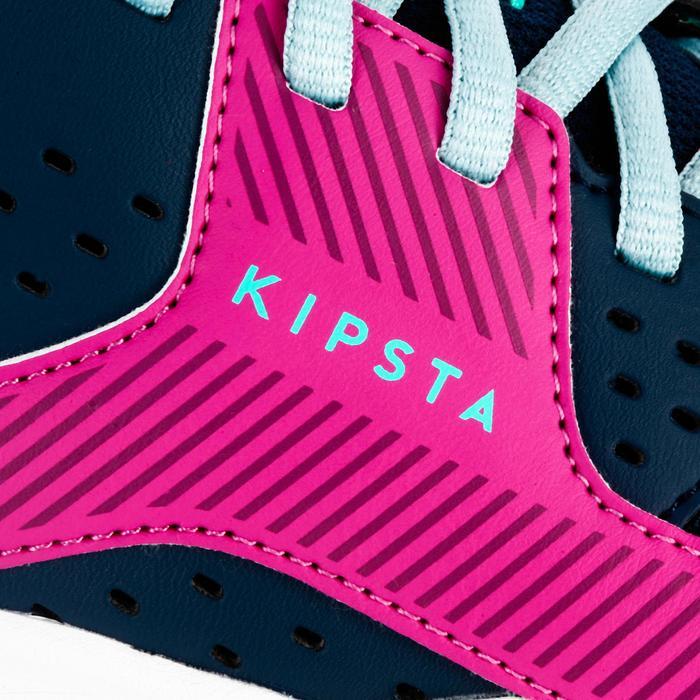 Chaussures de volley-ball V100 à lacets fille bleues et roses