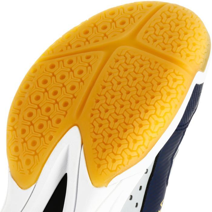 Volleyballschuhe V100 mit Schnürsenkeln Kinder grau/blau