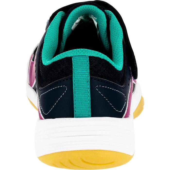 Zapatillas de Voleibol Allsix V100 Velcro niña azul rosa